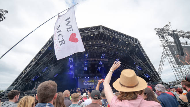 We love MCR sign at Glastonbury Festival