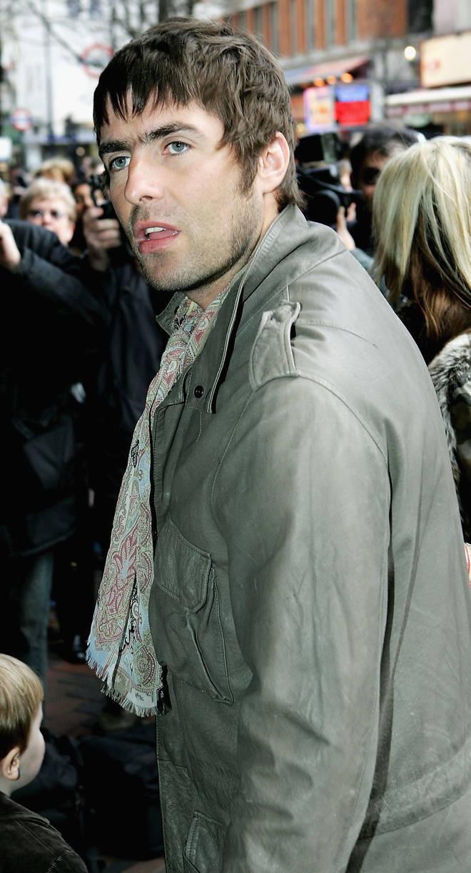 Liam Gallagher in London in 2005