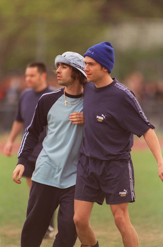 Liam Gallagher Vs Damon Albarn at the Soccer Six tournament in May 1996