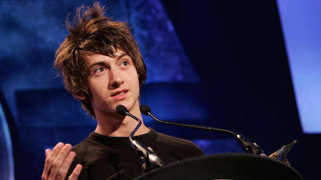 Alex Turner makes a speech after the Arctic Monkeys won the Nationwide Mercury Prize music award at Grosvenor House on September 5, 2006