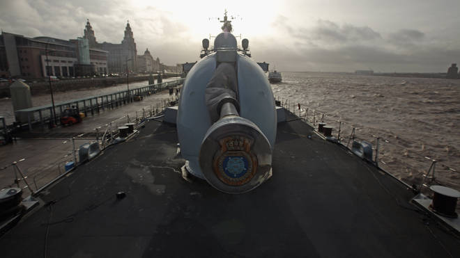 HMS Manchester On Her Final Tour Before Decommissioning in 2014