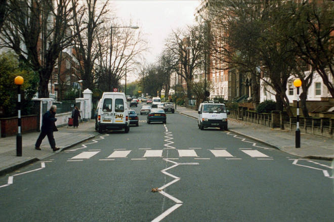 The zebra crossing at Abbey Road, London in 1996