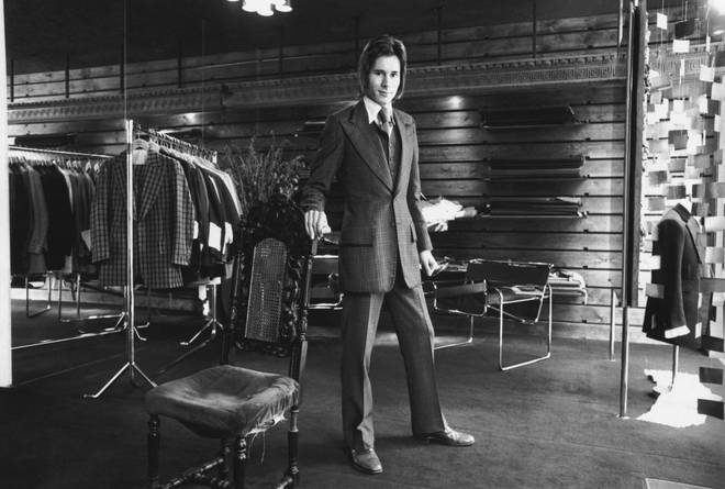 Tommy Nutter in his shop in November 1969