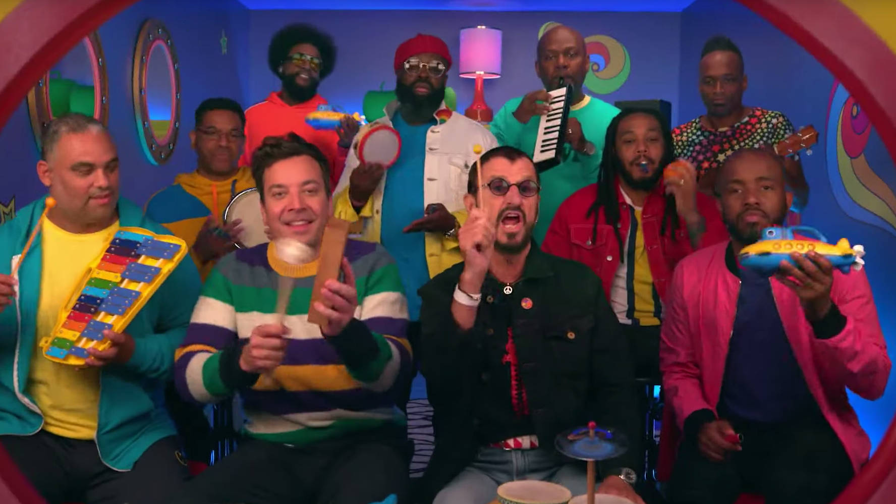WATCH: Ringo Starr performs Yellow Submarine with classroom instruments on Jimmy Fallon