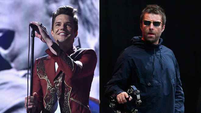 Brandon Flowers and Liam Gallagher