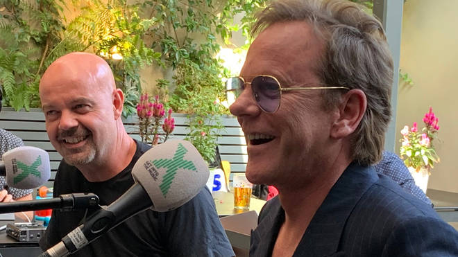 Dominic Byrne and Kiefer Sutherland