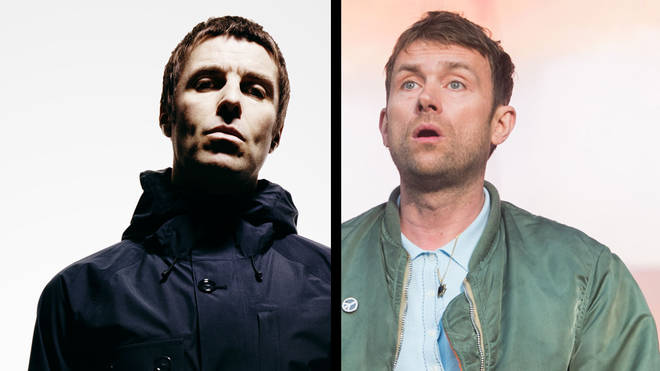 Liam Gallagher and Blur's Damon Albarn