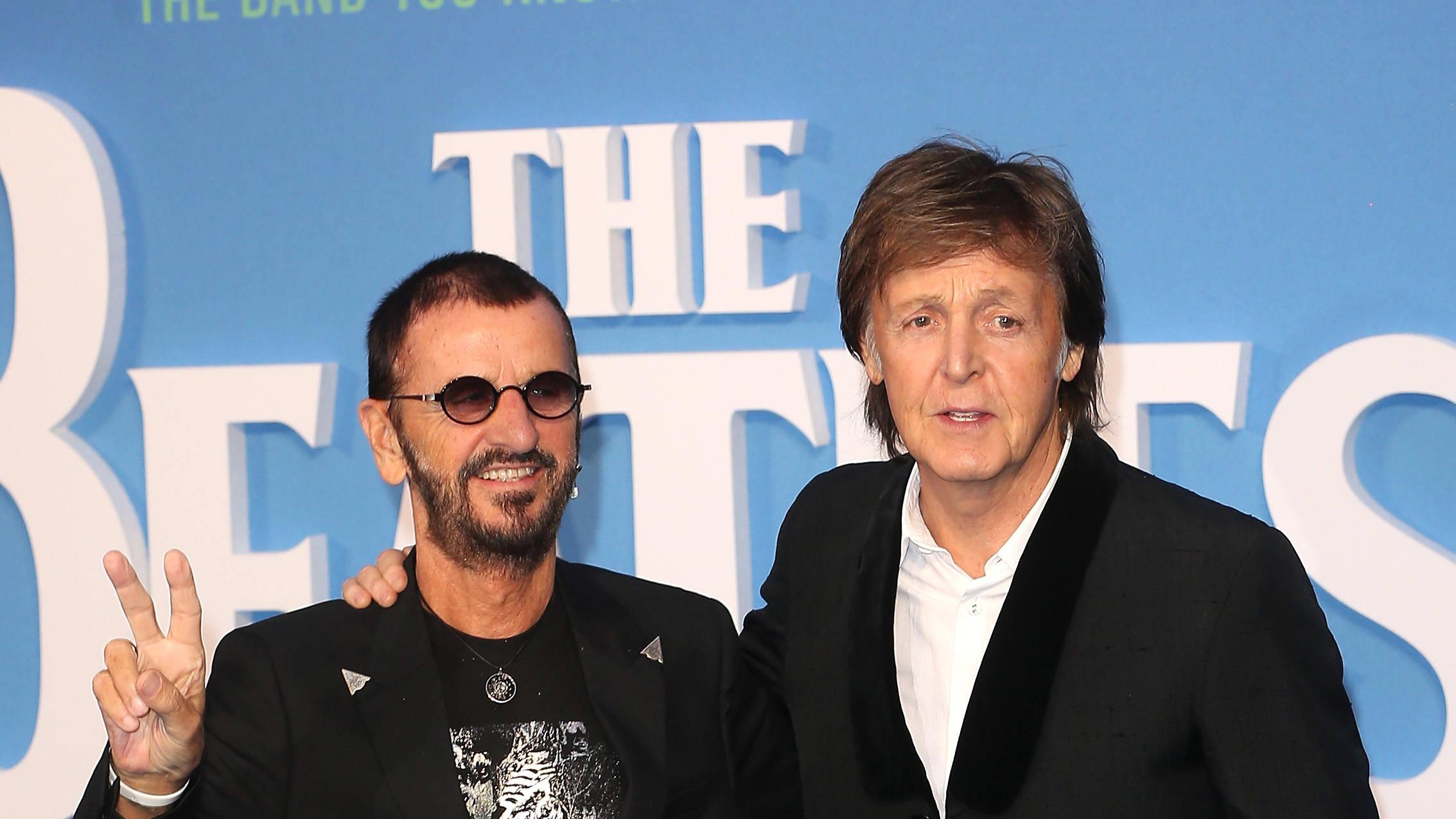 PHOTO: Paul McCartney & Ringo Starr reunite to celebrate 50 years of Abbey Road