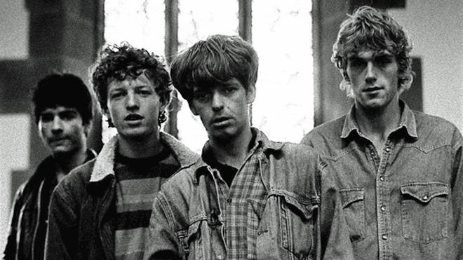 The La's in 1990: drummer Neil Mavers, bassist John Power, guitarist and vocalist Lee Mavers and guitarist Peter Camell