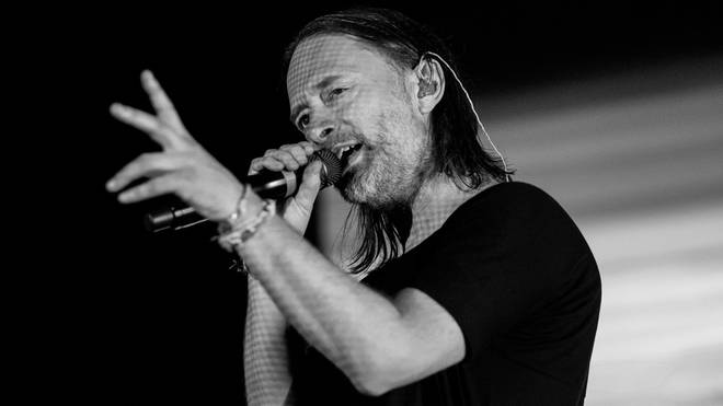 Thom Yorke onstage in New York in 2018