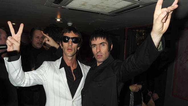 Richard Ashcroft and Liam Gallagher at the launch of Pretty Green on 7 November 2009