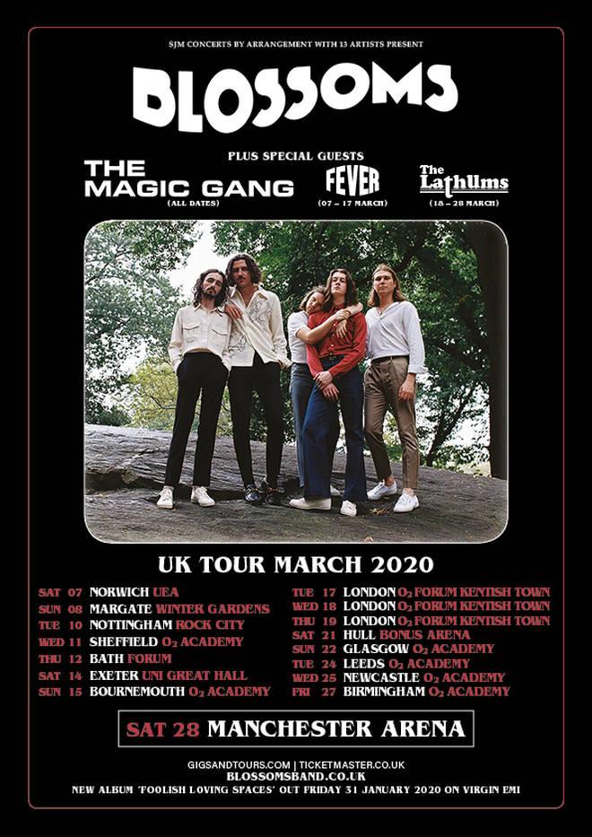 Blossoms 2020 UK tour dates