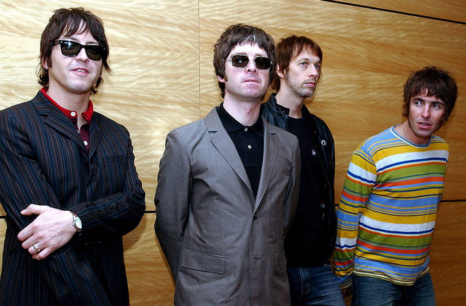 Oasis in Hong Kong in 2006: Gem Archer, Noel Gallagher, Andy Bell, and Liam Gallagher