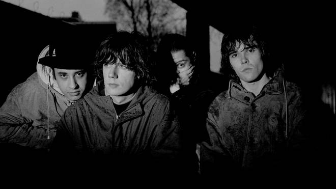 The Stone Roses pictured in Hilversum, Netherlands in 1992
