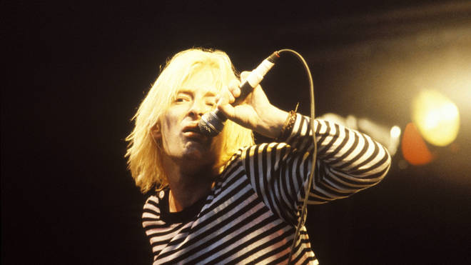 Thom Yorke performing with Radiohead in August 1993