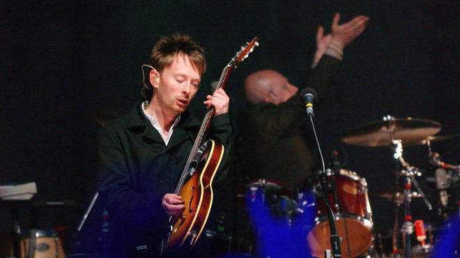 Thom Yorke performs at the MTV2 2$BILL Concert Series at the Beacon Theater June 5, 2003 in New York City