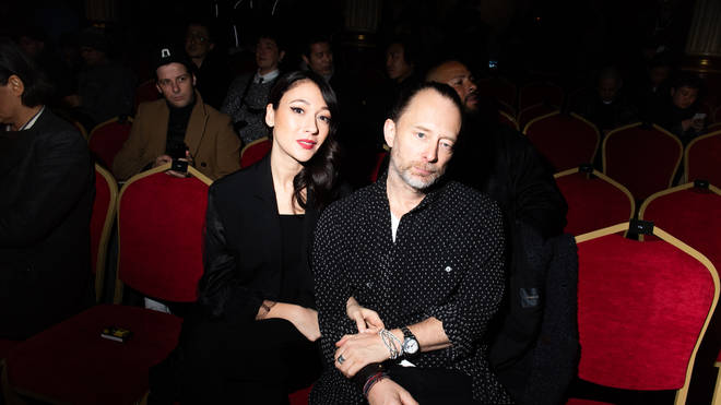 Thom Yorke and Dajana Roncione attend the Undercover Menswear Fall/Winter 2019-2020 show as part of Paris Fashion Week on January 16, 2019 in Paris, France.
