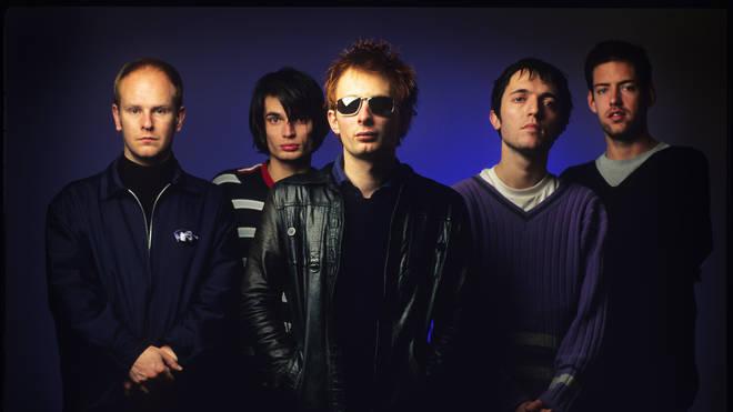 Radiohead: Phil Selway, Jonny Greenwood, Thom Yorke, Colin Greenwood, Ed O'Brien in Belgium, 1995