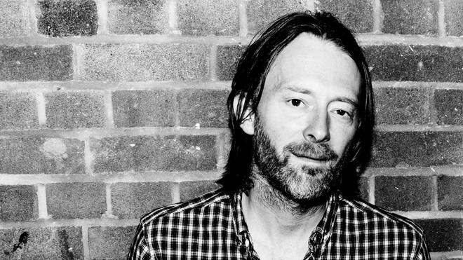 Thom Yorke of Radiohead poses for a photoshoot backstage at Boiler room #69 on October 11, 2011 in London,