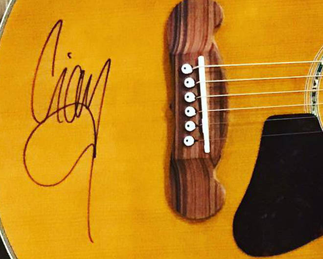 Liam Gallagher's signed guitar for Make Some Noise