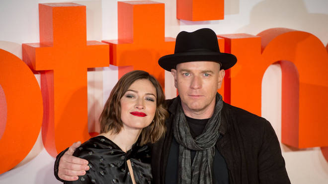 Kelly Macdonald and Ewan McGregor at the T2 premiere, 2017