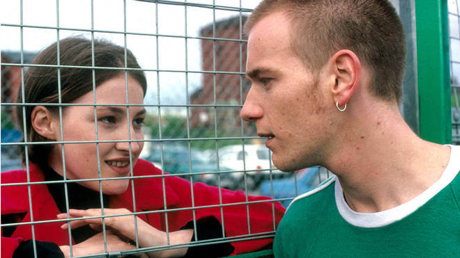 Kelly Macdonald and Ewan McGregor in Trainspotting, 1996