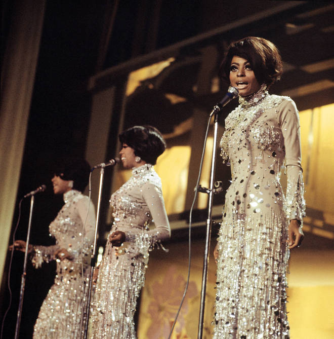 The Supremes live onstage in 1968
