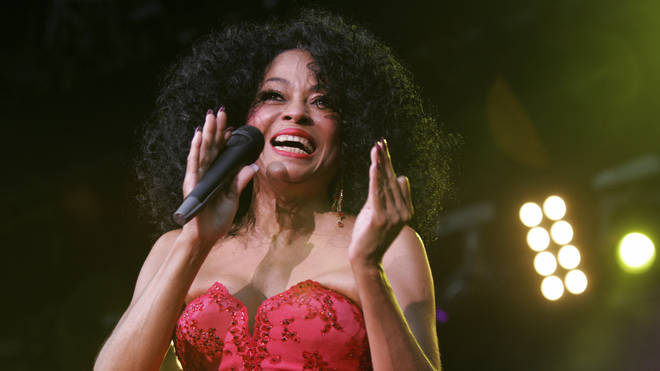 Diana Ross performing live in 2005