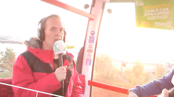 Chris Moyles starts his cable car challenge