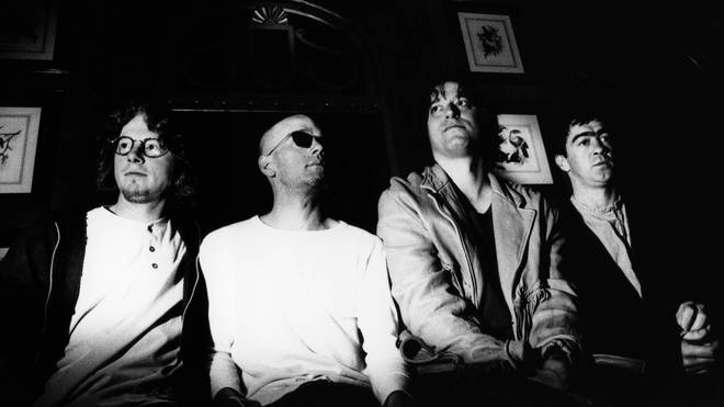 R.E.M. in 1993: Mike Mills, Michael Stipe, Peter Buck and Bill Berry