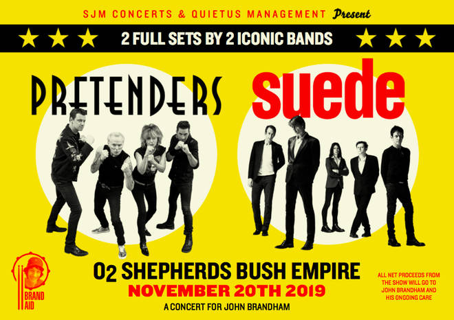 Pretenders and Suede announce co-headline benefit concert