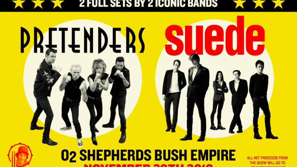 The Pretenders and Suede to co-headline special benefit show for crew member