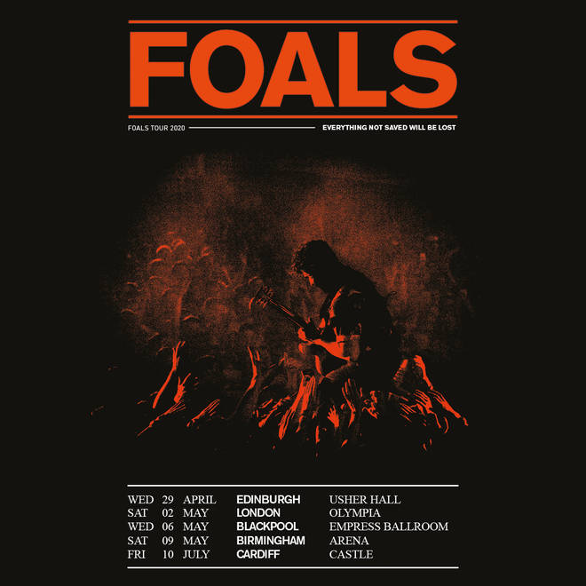 Foals 2020 UK tour poster