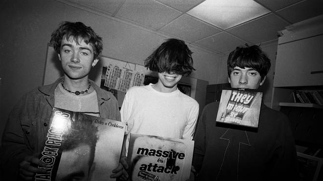 Blur in 1991: Damon Albarn, Alex James and Graham Coxon