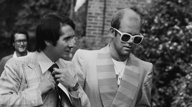 Elton John and John Reid, 7th September 1976