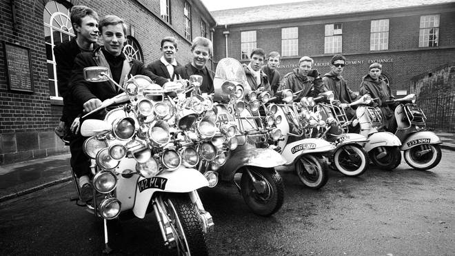 Mods in Peckham, South London, May 1964.