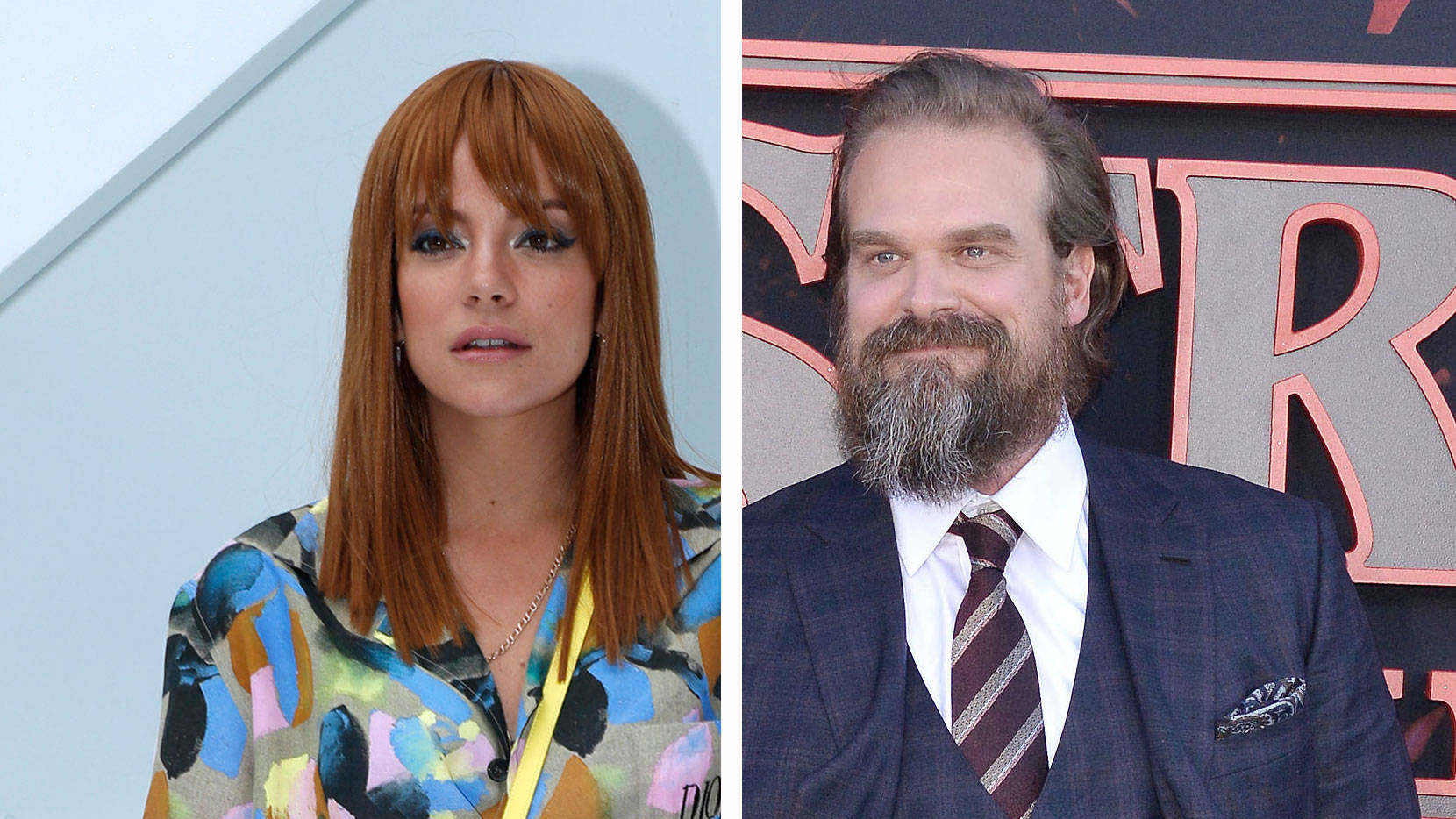 PHOTO: Lily Allen & Stranger Things' David Harbour confirm romance with public kiss