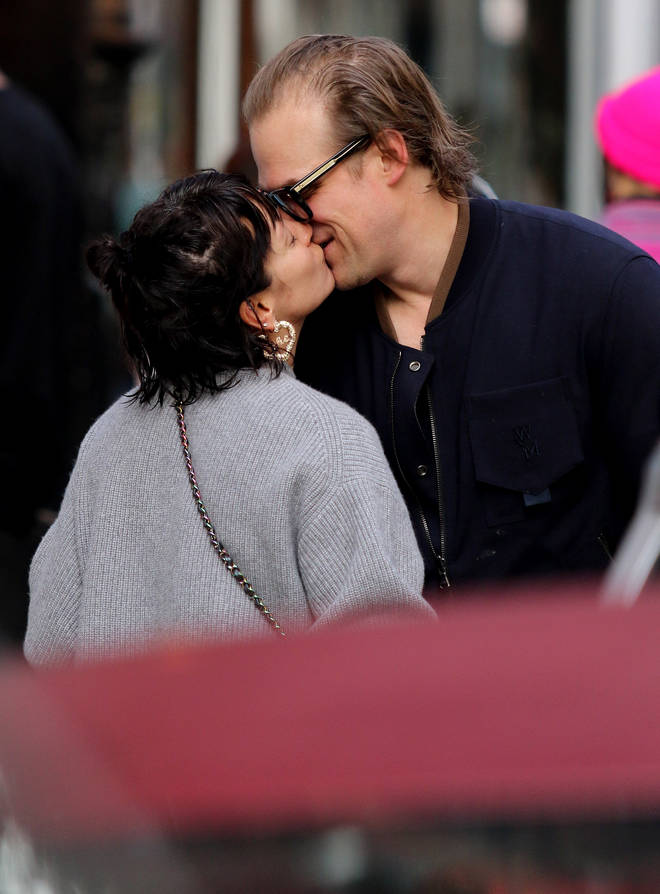 Lily Allen and David Harbour confirm romance by kissing in New York