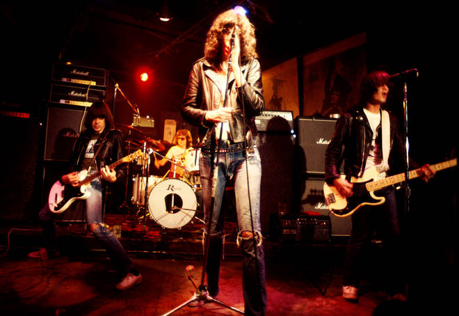 The Ramones, onstage at CBGB, circa 1976