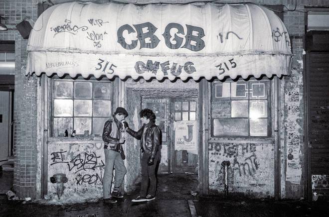 Outside CBGB February 14, 1983