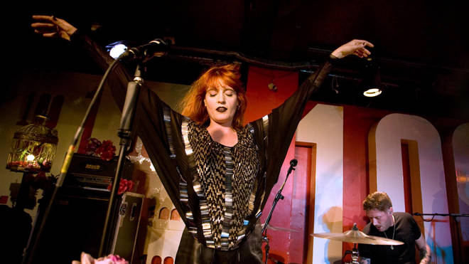 Florence And The Machine onstage at the 100 Club, 17 November 2009