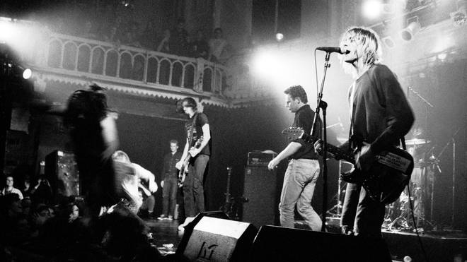 Nirvana perform live on stage at Paradiso in Amsterdam, Netherlands on 25th November 1991