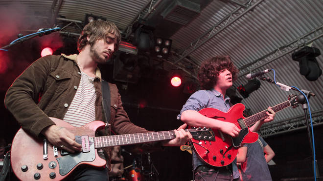 Pete Reilly and Kyle Falconer of The View perform on stage at Cockpit on June 12, 2012