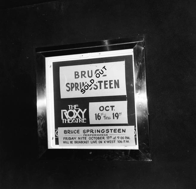 Bruce Springsteen is sold out at The Roxy, LA, October 1975