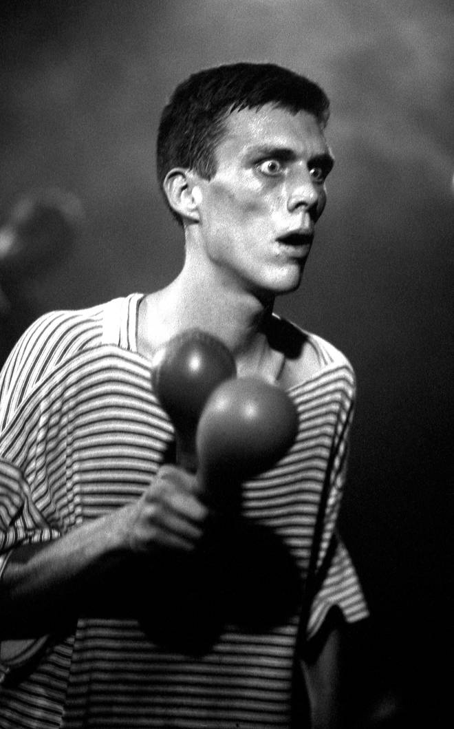 Bez of the Happy Mondays live at the Free Trade Hall, Manchester, November 1989
