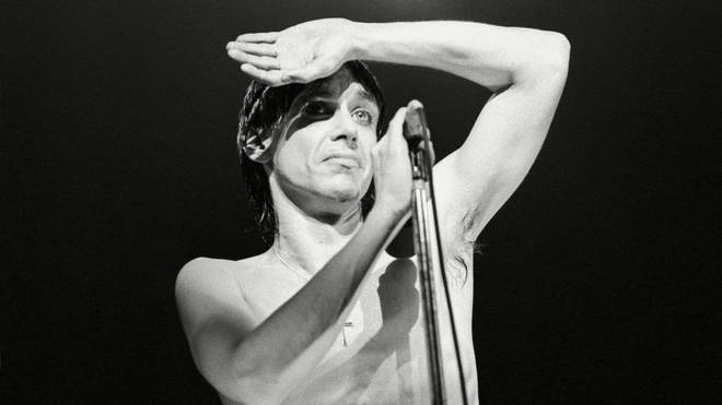 Iggy Pop onstage at the Rainbow in 1977
