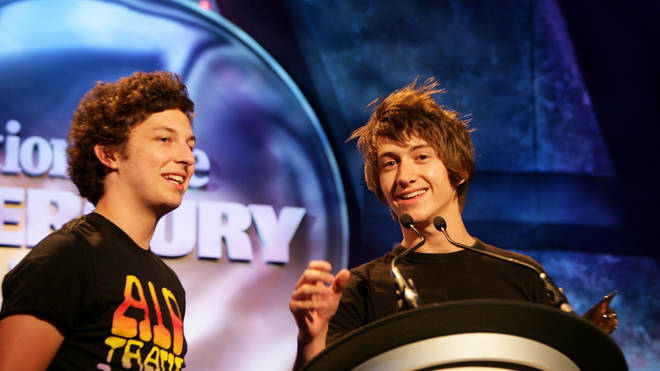 Jamie Cook and Alex Turner accept the Nationwide Mercury Prize for Whatever People Say I am, That's What I'm Not, 2006
