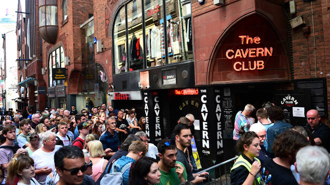 Fans of Paul McCartney make their way inside The Cavern Club, as the singer plays a one off gig at the legendary venue on July 26, 2018