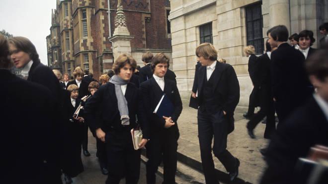Eton public school boys in 1976