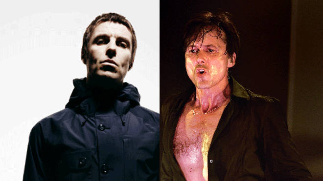 Liam Gallagher and Suede frontman Brett Anderson
